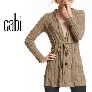 CAbi Heather Acorn Cable Knit Sweater